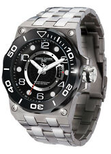 Jorg Gray JG9600-13 Mens Watch Black Dial Swiss Movement Silver Stainless Steel