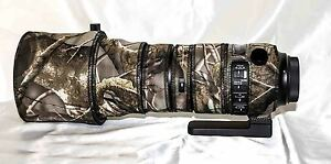 Sigma 150-600mm f/5-6.3 Sport Lens neoprene camo cover set
