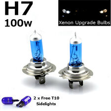 H7 100w SUPER WHITE XENON (499) 12v DIPPED Head Light Bulbs + 501 W5W Sidelights