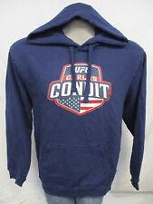 Carlos Condit UFC Men Navy Blue Hooded Sweatshirt MMA