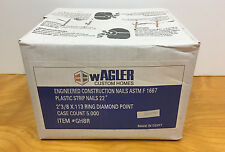 NEW Wagler Plastic Strip Framing Nails 2 3/8 x .113 Ring Diamond Point, 5000 Ct