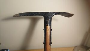 Vintage Ice Axe Pick Wooden Handle, military?