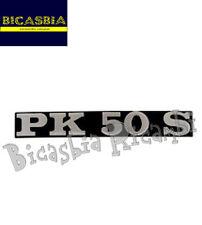 0155 TARGHETTA SPORTELLO COFANO MOTORE VESPA PK 50 S - BICASBIA