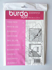 BURDA DRESSMAKERS TISSUE TRACING PAPER SEWING PATTERNS EMBROIDERY CRAFT