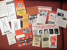 Photography lot of booklets - 35+ items - Kodak, Da-Lite, Bell & Howell, etc