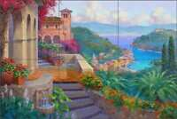 Mediterranean Tile Backsplash Mikki Senkarik Art Ceramic Mural MSA132