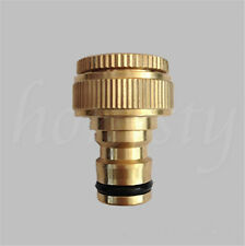 1/2x Copper Hose Tap Connector Threaded Garden Water Pipe Quick Adaptor Fitting 1pcs