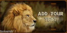 AFRICAN MALE LION ART LICENSE PLATE PERSONALIZED