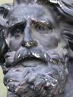 Neptune Poseidon Bust Head Greek Roman God Statue Sculpture Portrait Plaster