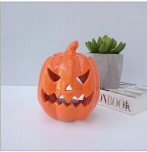 Pumpkin Wax Burner Oil Burner Halloween Decor Orange Pumpkin Scary