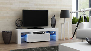 Milano 130 - white small tv stand / tv cabinet / tv unit