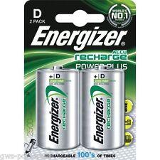 2 x Energizer Mono D Akku 2500mAh Accu  NiMH Ideal für Spielzeug Elektro