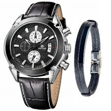 Relojes De Hombre Chronograph Men's Watch MEGIR Watches And Fashion Bracelet Set