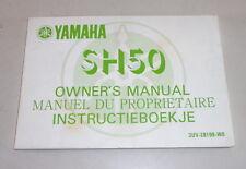 Betriebsanleitung Owner´s Manual Yamaha SH 50 / SH50 Stand 08/1989