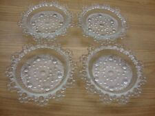 SET OF FOUR IMPERIAL GLASS CANDLEWICK CRYSTAL COASTER 4 1/2 INCHES IN DIAMETER