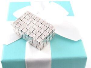 TIFFANY & CO SILVER TREASURE CHEST PILL BOX HOLDER RARE POUCH INCLUDED