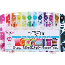 TIE DYE KIT Super Big One Step 36 Projects TULIP 12 Colors T-Shirts