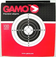 Gamo 100 Bullseye Air Gun / Rifle / Pistol pellet targets 14cm sq .for 177 .22