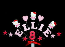 Hello Kitty Birthday/ Celebration custom Cake Topper, personalised name and age