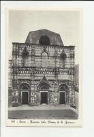 siena antica cartolina formato piccolo facciata della chiesa di san giovanni