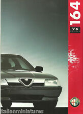 Alfa Romeo 164 2.0 Turbo V6 Italian Language 24 Page Brochure Prospekt Catalog