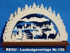 """REGU Laubsägevorlage Nr.126 - SCHWIBBOGEN  -  """"Weihnachten steht vor der Tür"""" ++"""