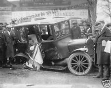 Photograph Washington DC Car Street Accident Year 1922  8x10