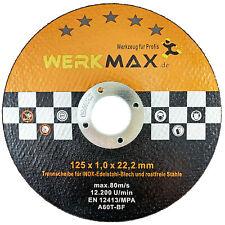 Trennscheiben 125 x 1 mm WMS® | 50 Stück Metall Edelstahl Flexscheiben