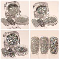 3 Kisten Nail Glitzer Pulver BORN PRETTY Holographisch Paillette Sequins Dekor