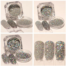 3Boxes BORN PRETTY Nail Glitter Powder Holographic Silver Paillette Sequins Lot