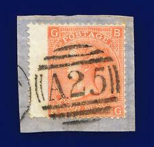 1872 Sg94 4d Vermilion Plate 13 J60 Bg Malta A25 Good Used Cat £75 cjoa