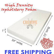 "1"" x 24"" x 72"" - High Density Seat Foam Cushion Replacement Upholstery Foam"