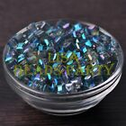 25pcs 6mm Cube Square Faceted Crystal Glass Loose Spacer Beads Green Colorized