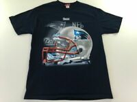 New England Patriots Helmet T Shirt L Blue NFL Football Stadium Mens 3905