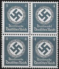 Germany Third Reich Mi# 167 Official 1942/44 Block of 4 MNH **