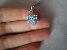 Swiss Blue Topaz pendant, 2.59 carats, in 2.51 grams of 925 Sterling Silver