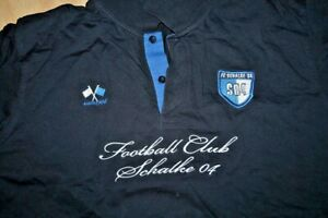 Pullover 1904Troyer Ringel Gr.52/54 xxL Blau Grau  Schalke04 Poloshirt Langarm