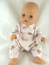 Zapf Creation Baby Born newborn doll blue eyes drink wet 16 to17� tall dressed