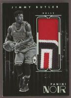 2015-16 Panini Noir Jimmy Butler Jumbo 3-Color Patch 1/5 Chicago Bulls