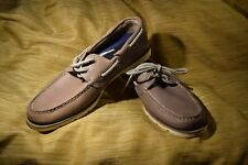 New Mens Size 9 Sperry Leeward Grey Gray Leather Top Siders Boat Shoes $94.99