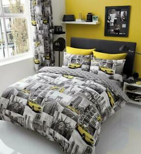 New York Patchi Duvet Cover Bedding Set - Single, Double, King - with pillow ...
