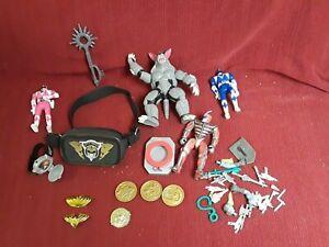 Rare lot Classic Power Rangers Action Figure accessories Bandai 1993 figure