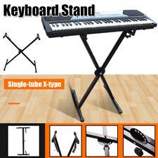 "49 61 76 Key Piano Keyboard ""X"" Stand Electric Organ Rack Folding Metal Adjust"