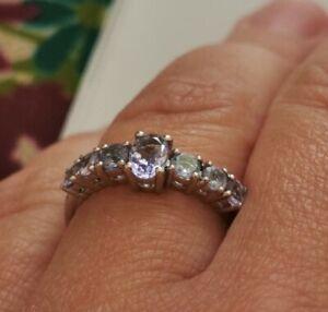 💫Tanzanite Sterling Silver Ring, Size P-Q / 8, BNWT, 1.22ct