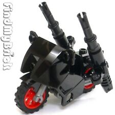 NEW - Lego Batman Nightwing Minifigure Motorcycle with Super Cannons - Black NEW