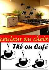 4 stickers autocollant adhesif cuisine thé tasse à café deco cuisine frigo decal