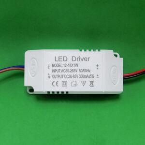 AC LED Driver +Shell 12~18x1W 300mA Power Supply for Lamp Light Bulb 12W 15W 18W