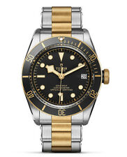 AUTHENTIC NEW TUDOR HERITAGE BLACK BAY TWO-TONE BRACELT MENS WATCH 79733N-0002