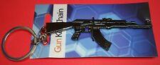 "NEW AK47 Metal Gun Rifle Keychain Army Military 3.5"" long Jewelry Pendant GIFT"