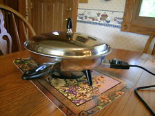 "Regal Society Electric Skillet 12"" Stainless Immersible Frying Pan Vintage"